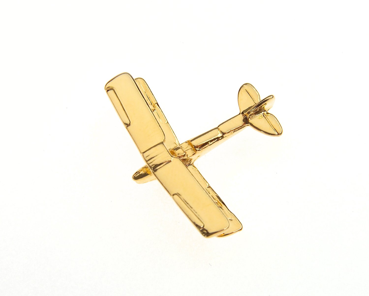 Tiger Moth Gold Plated Tie Pin