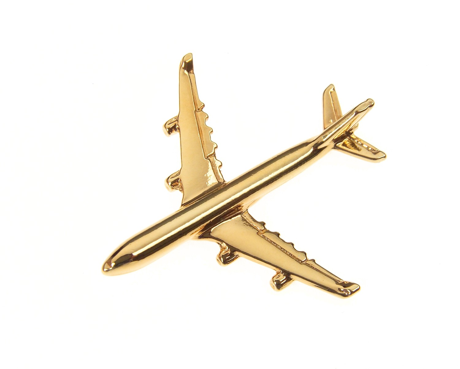 Airbus A340 Gold Plated Tie / Lapel Pin