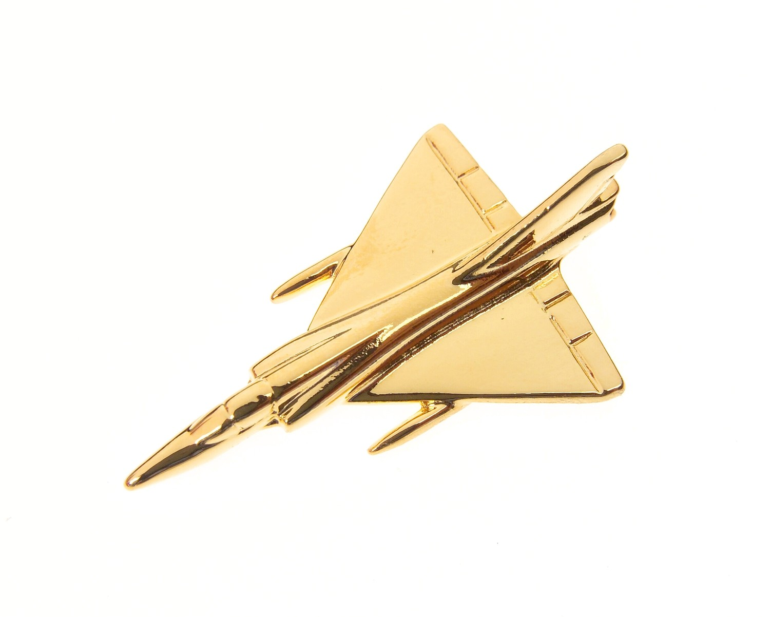 Mirage III Gold Plated Tie / Lapel Pin