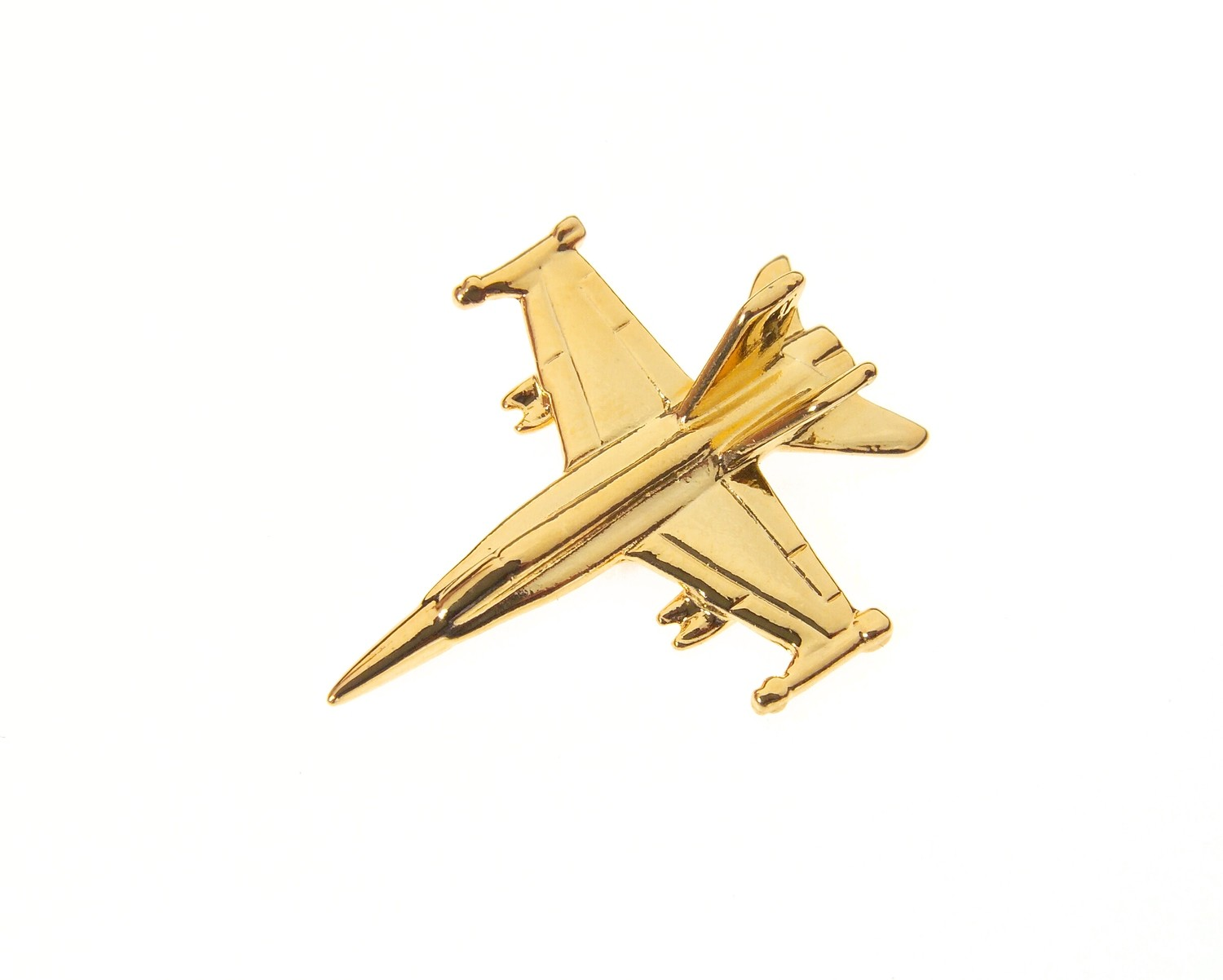F/A 18A Hornet Gold Plated Tie / Lapel Pin