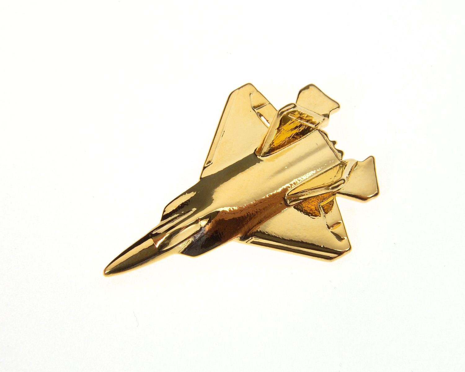F22 Raptor Gold Plated Tie / Lapel Pin