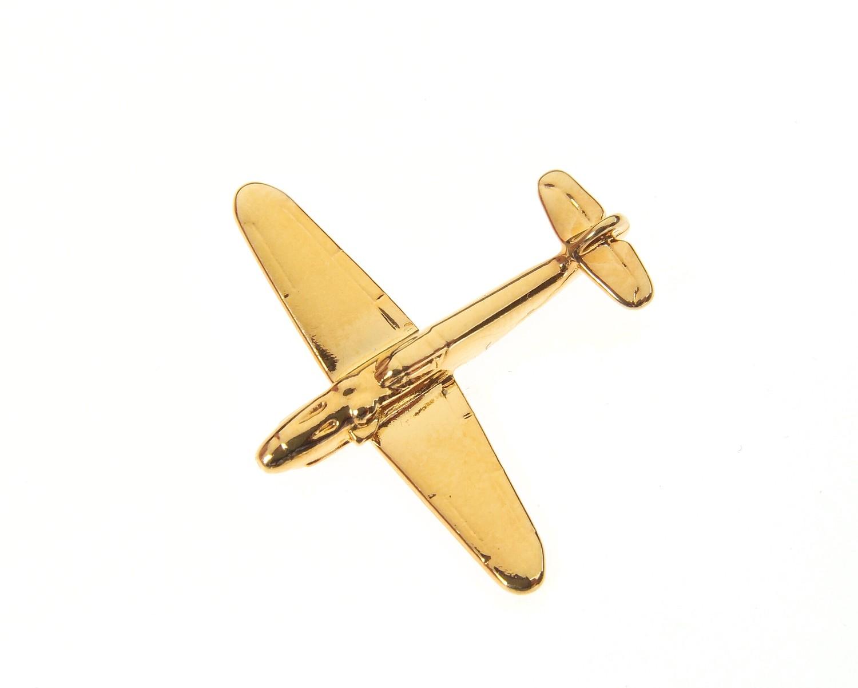 Messerschmitt Me109 Gold Plated Tie / Lapel Pin