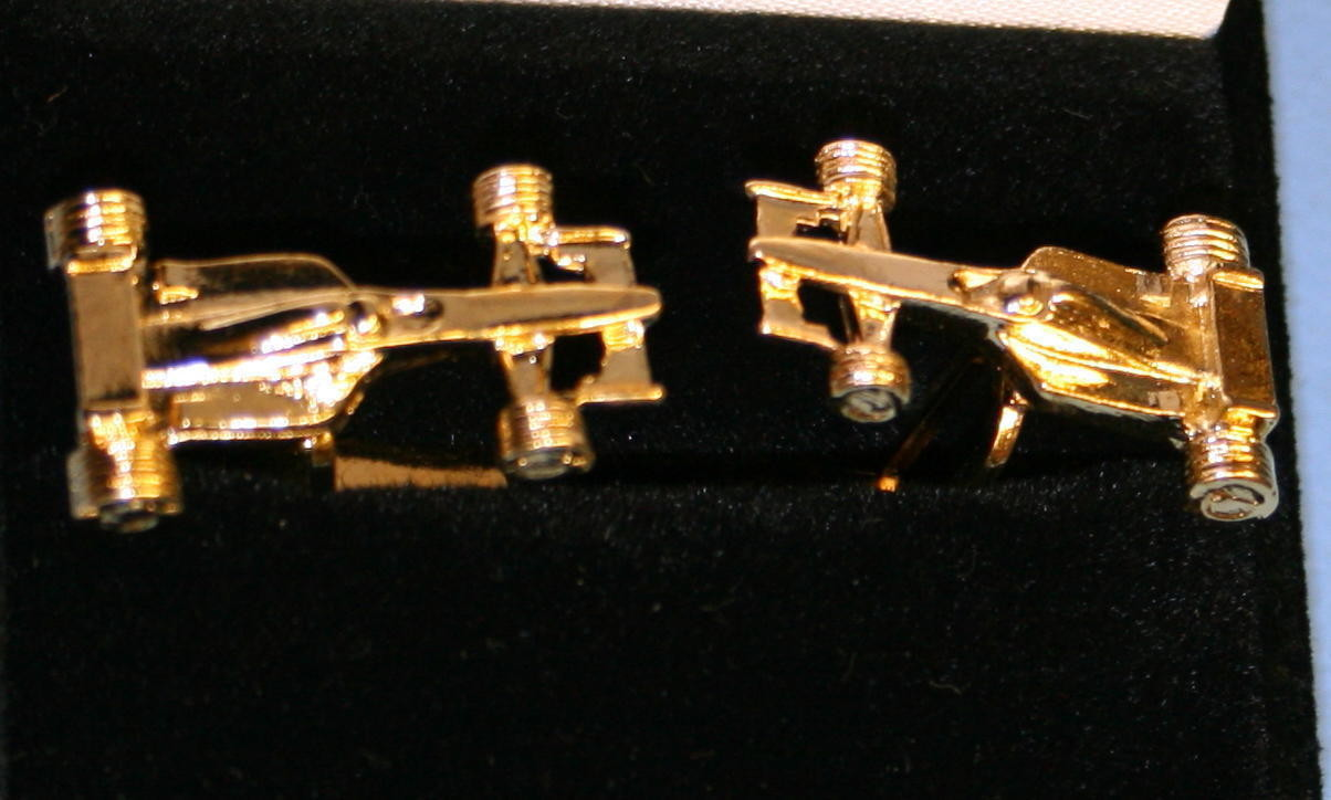 Formula One F1 Cufflinks Gold Plated