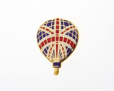 Union Jack Balloon Tie / Lapel Pin
