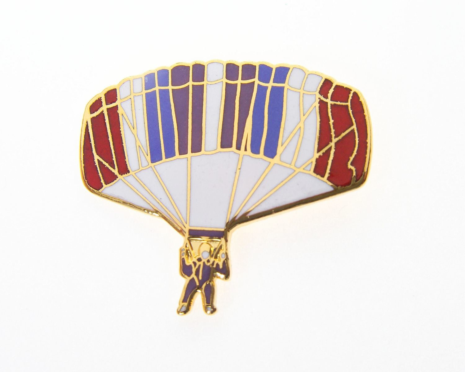 RAM Air Parachute Front Enamel / Gold Plated Tie / Lapel Pin