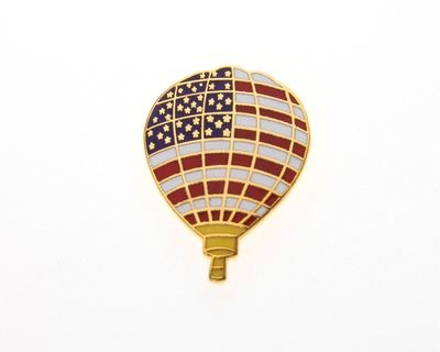 Stars & Stripes Balloon Tie / Lapel Pin
