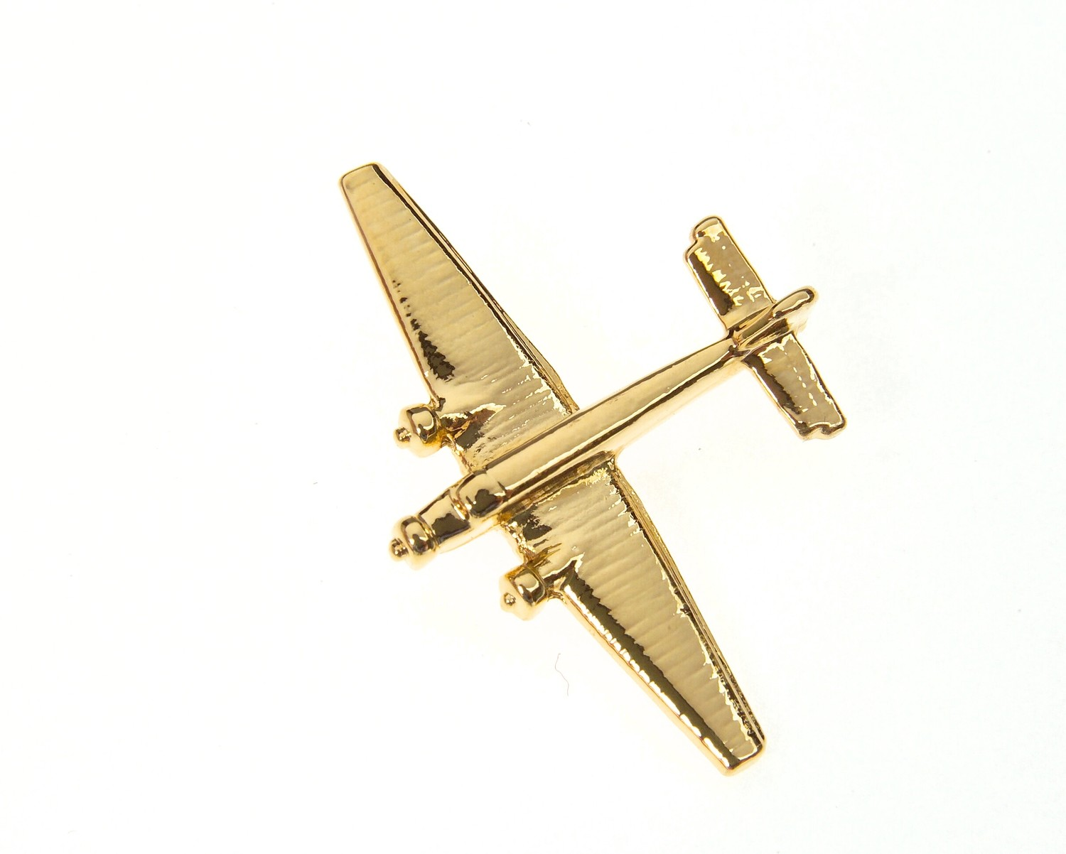 Junkers JU-52 Gold Plated Tie / Lapel Pin