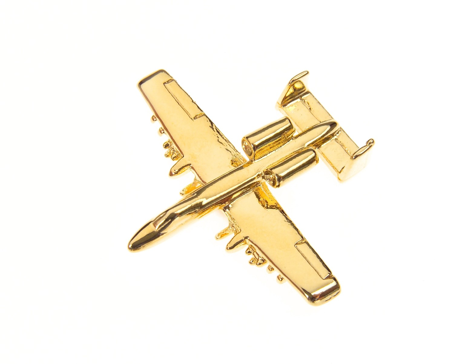 A10 Warthog 'Tank Buster' Gold Plated Tie / Lapel Pin