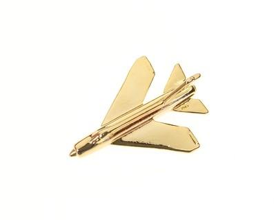 Lightning F6 Gold Plated Tie / Lapel Pin