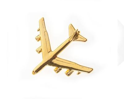 B52 'Buf' Stratofortress Gold Plated Tie / Lapel Pin