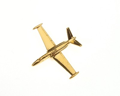 Fouga Magister Gold Plated Tie / Lapel Pin