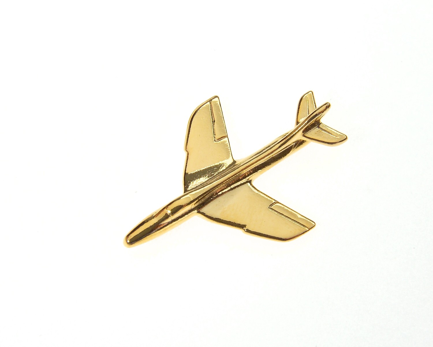 Hawker Hunter Gold Plated Tie / Lapel Pin