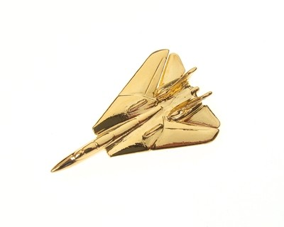F14 Tomcat Gold Plated Tie / Lapel Pin
