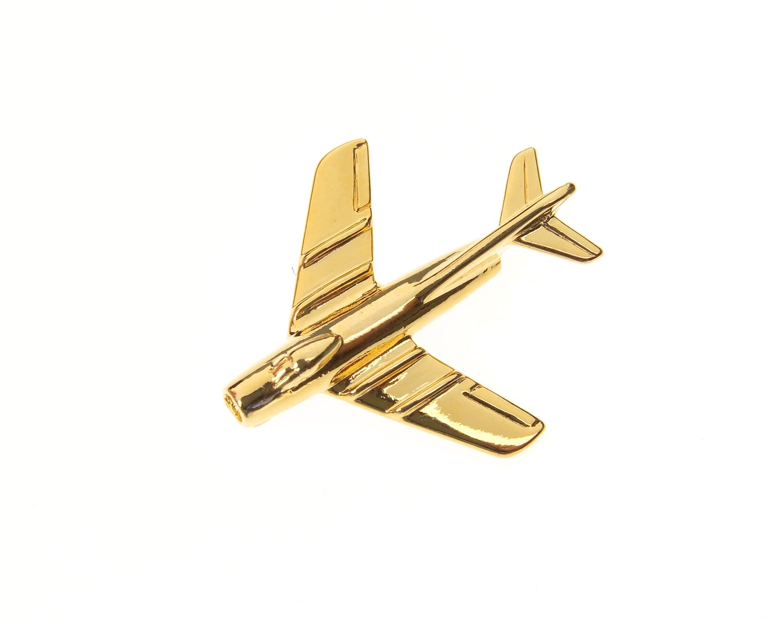 Mig 15 Fagot Gold Plated Tie / Lapel Pin