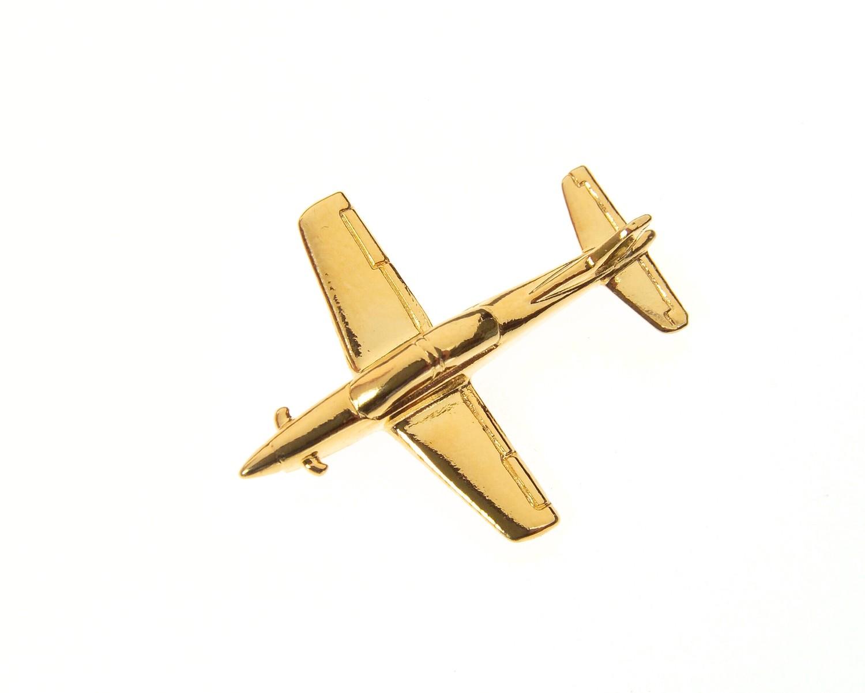 Pilatus Pc21 Gold Plated Tie / Lapel Pin