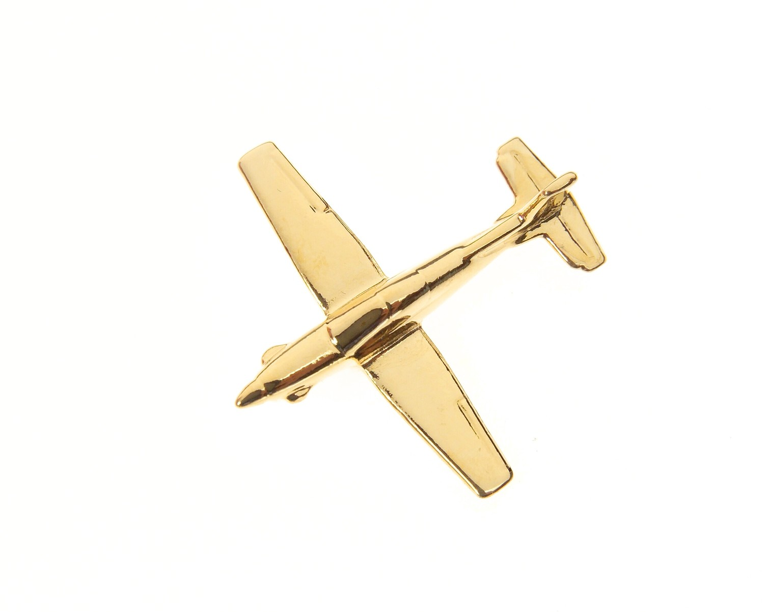 Pilatus Pc9 Gold Plated Tie / Lapel Pin