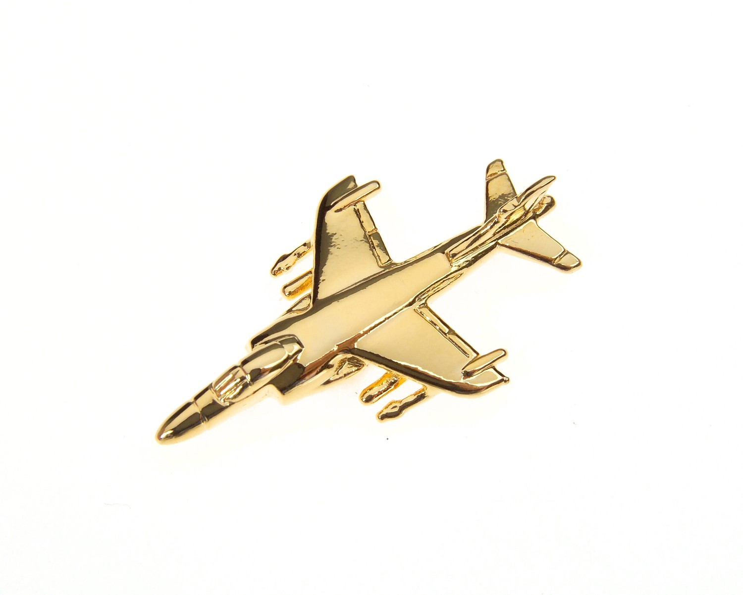 Sea Harrier FA-2 Gold Plated Tie / Lapel Pin