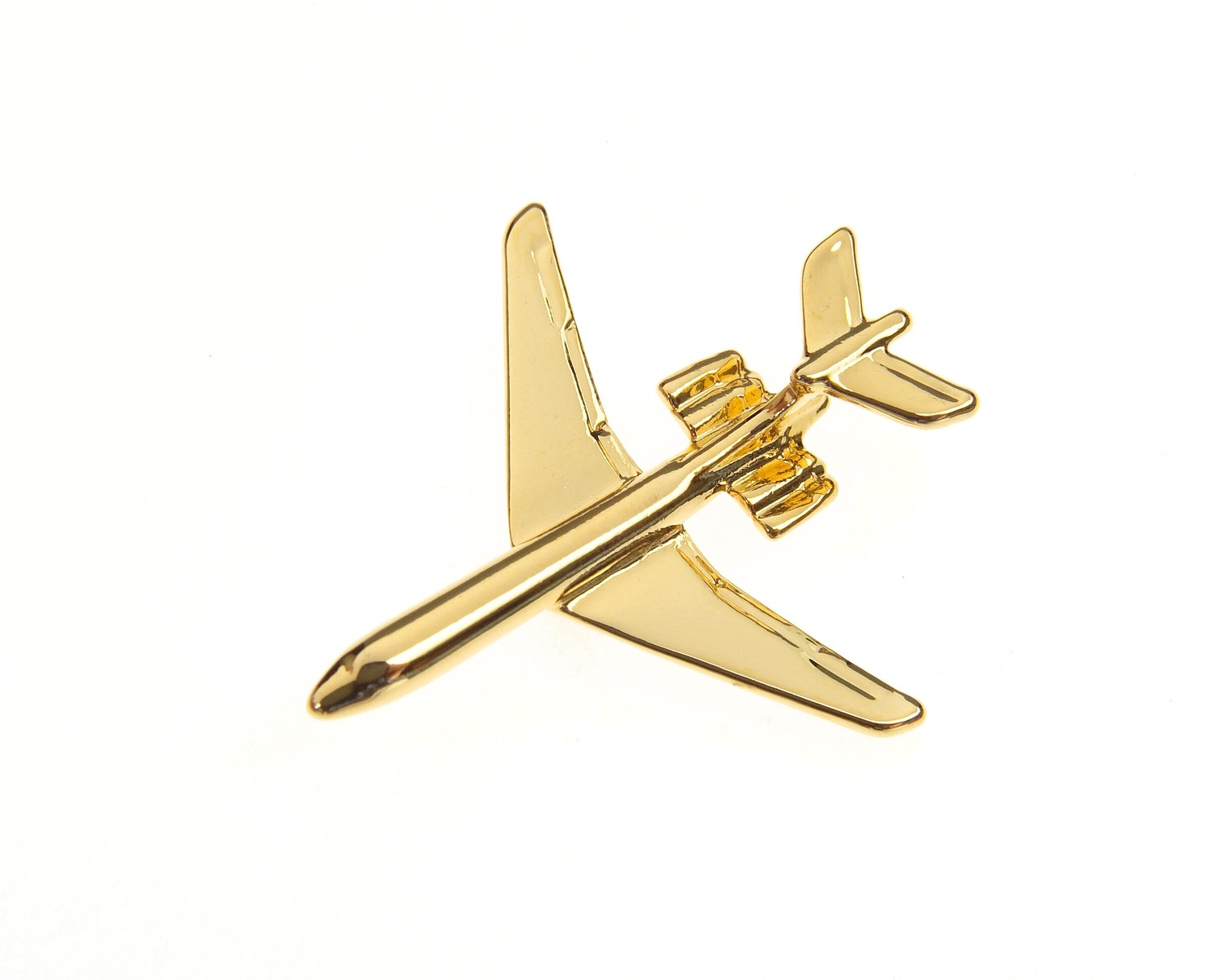 VC10 'Shiny 10' Gold Plated Tie / Lapel Pin