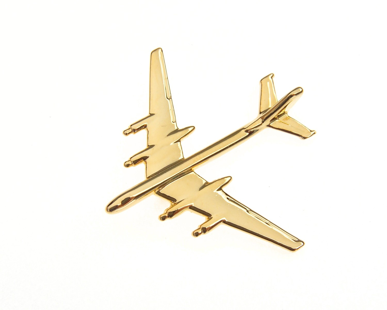 Tupolev Tu95 'Bear' Gold Plated Tie / Lapel Pin