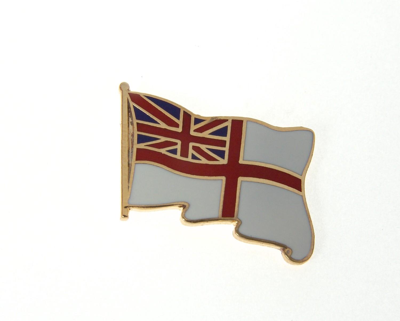 White Ensign Tie / Lapel Pin