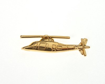Agusta 109 Gold Plated Tie / Lapel Pin