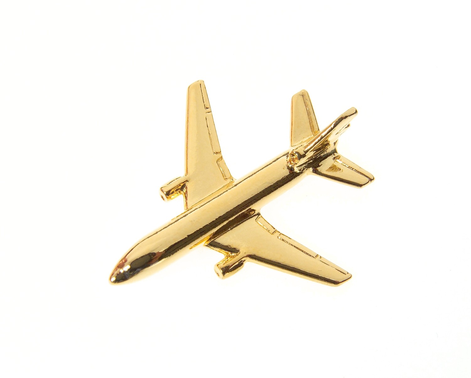 DC10 Gold Plated Tie / Lapel Pin