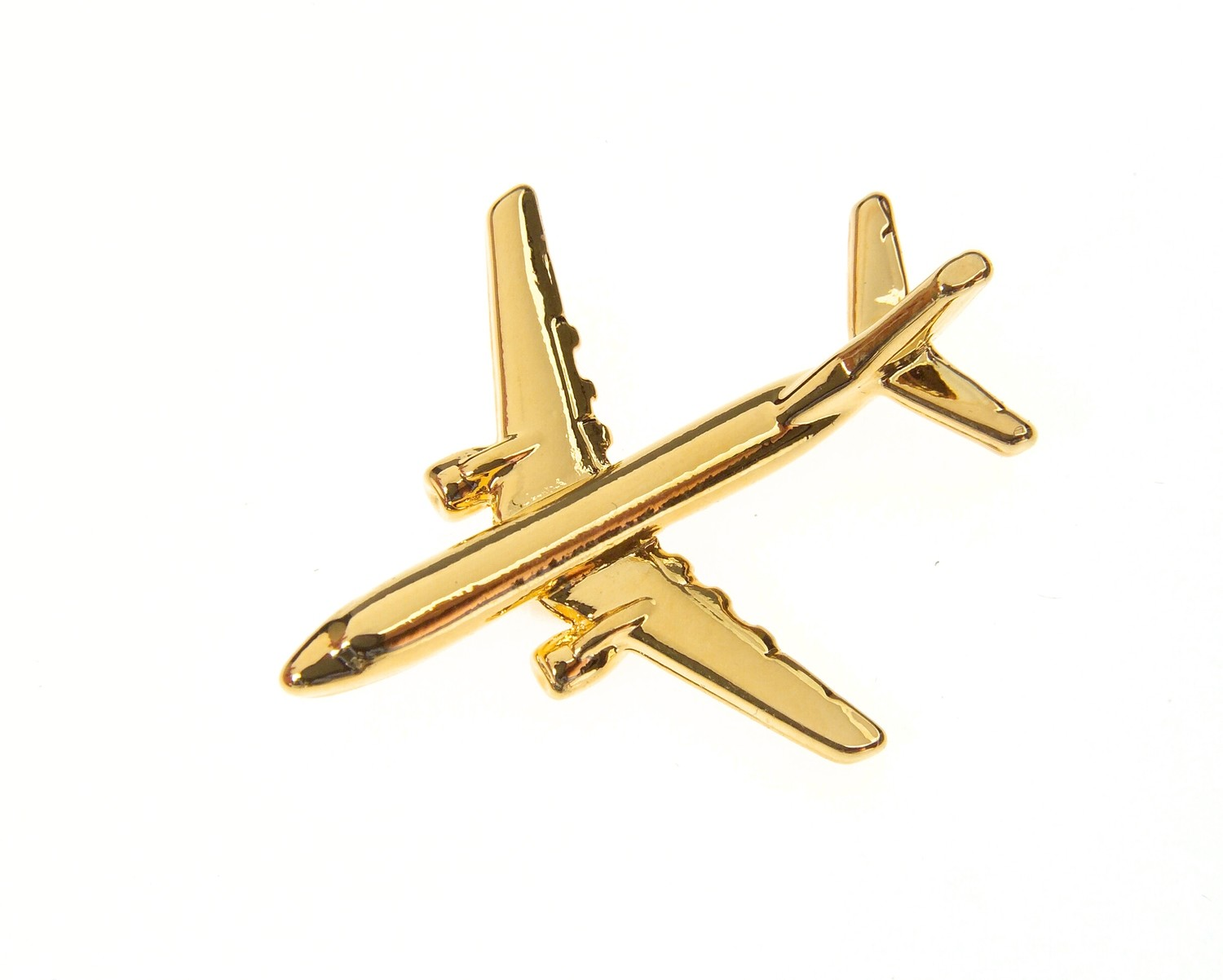 Boeing 737-800 Gold Plated Tie / Lapel Pin