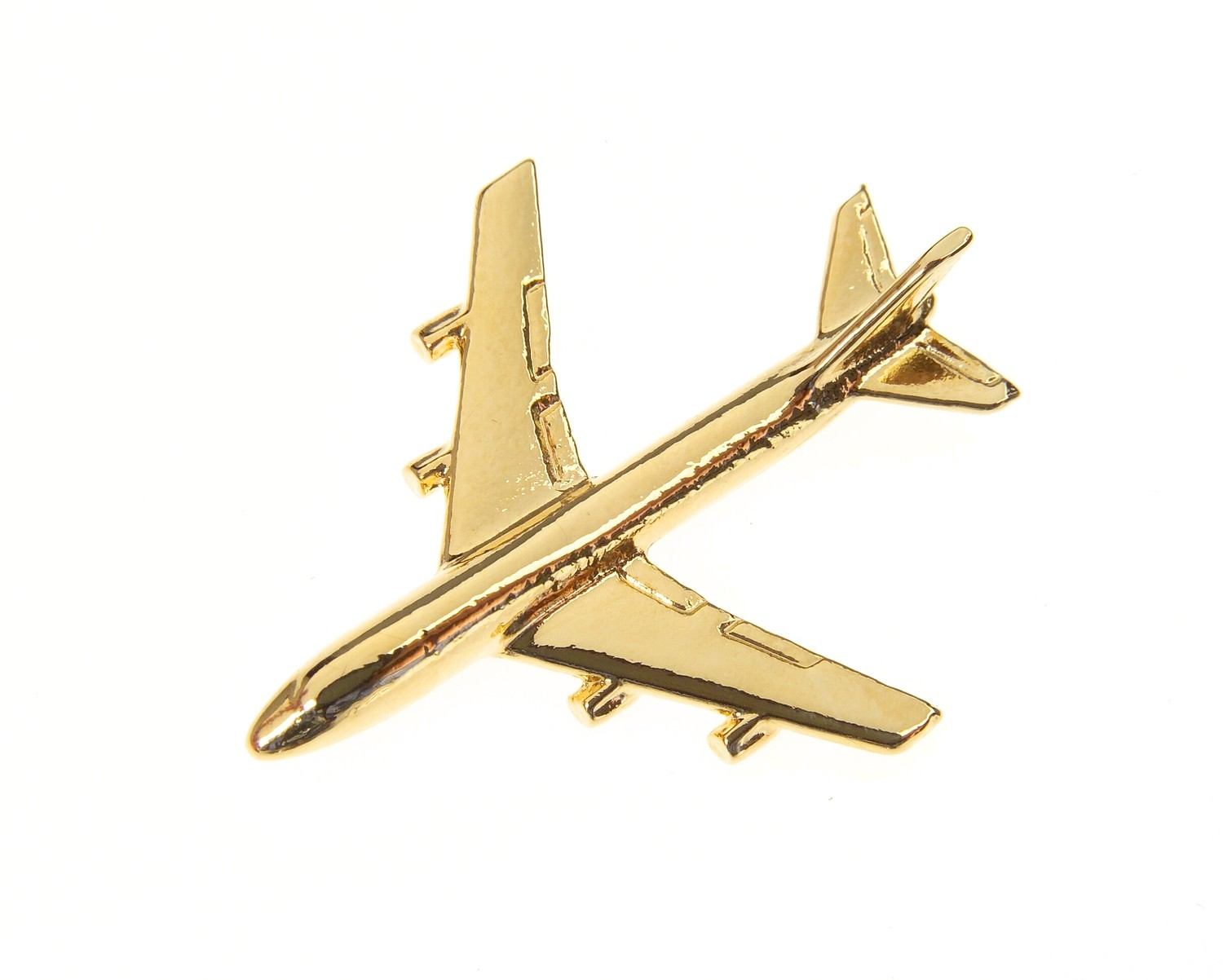 Boeing 747 Gold Plated Tie / Lapel Pin