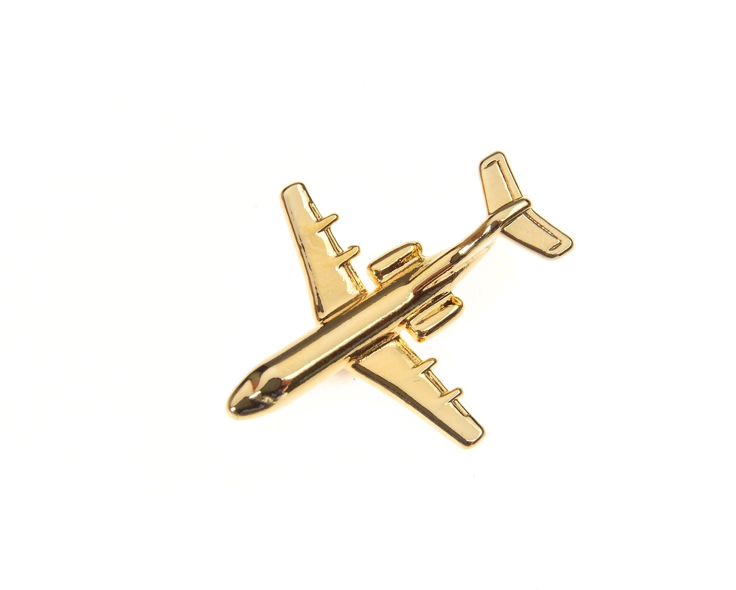 Fokker 28 / 70 Gold Plated Tie / Lapel Pin