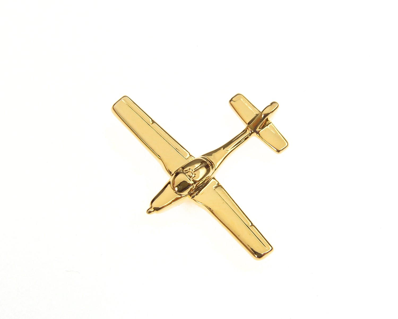 Grob Tutor 115 Gold Plated Tie / Lapel Pin