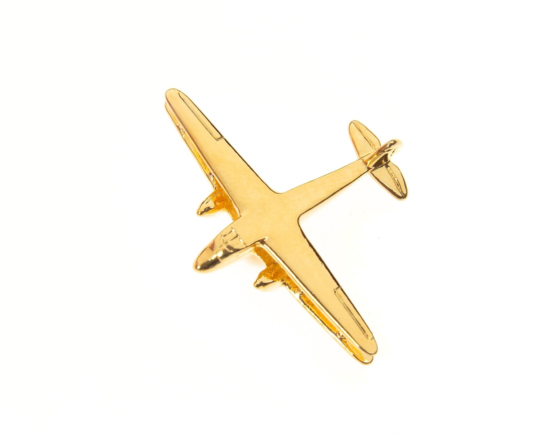De Havilland Dragon Rapide Gold Plated Tie / Lapel Pin