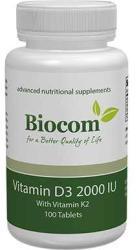 Biocom Vitamin D3 2000 IU sa K2 100 tableta 00477