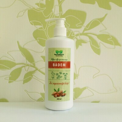 Herbateria - Biljno ulje za masažu - Badem 400 ml