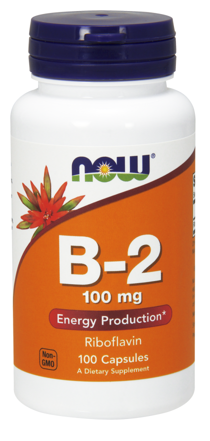 Now Vitamin B-2 100 mg 100 kps 00161