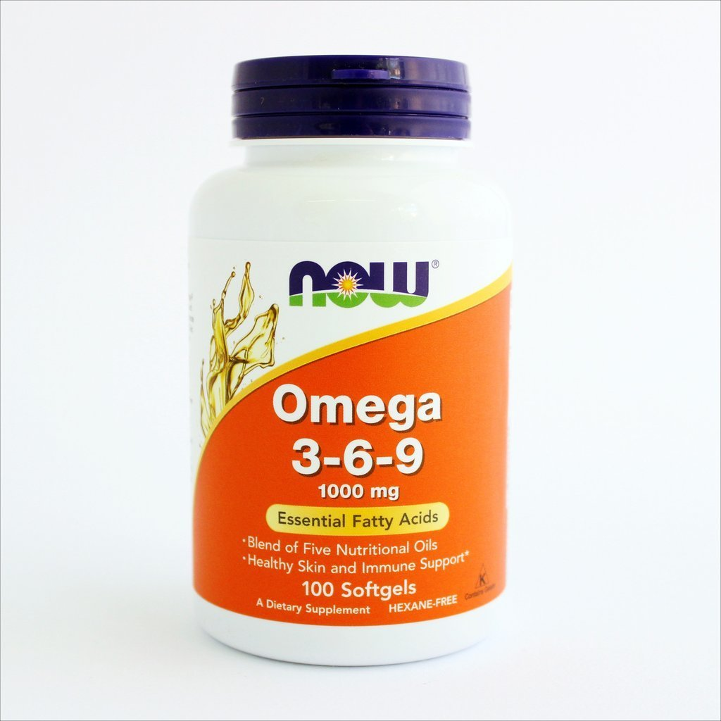 NOW Foods - Omega 3-6-9 1000 mg (100 kapsula) 00177