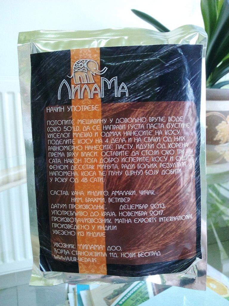 Prirodna kana za kosu bez hemikalija crvena 100 g 00218