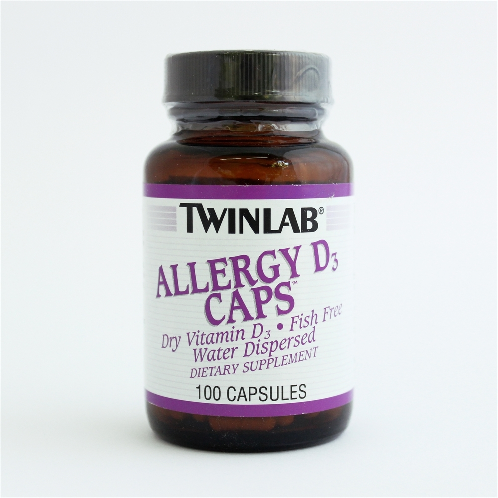 Twinlab Vitamin D kod alergija, 100 kapsula