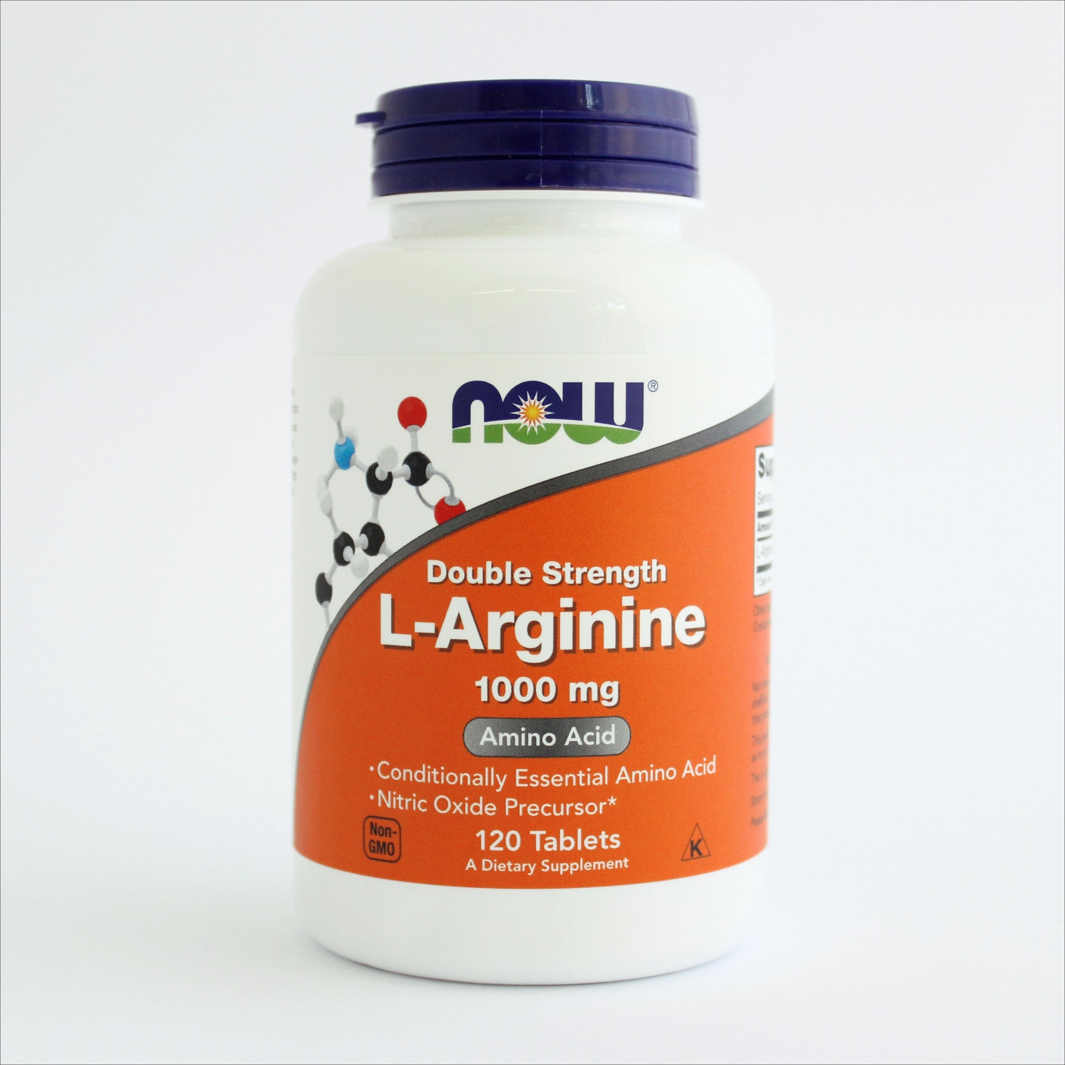 Now L-arginin 1000 mg 120 tbl 00193