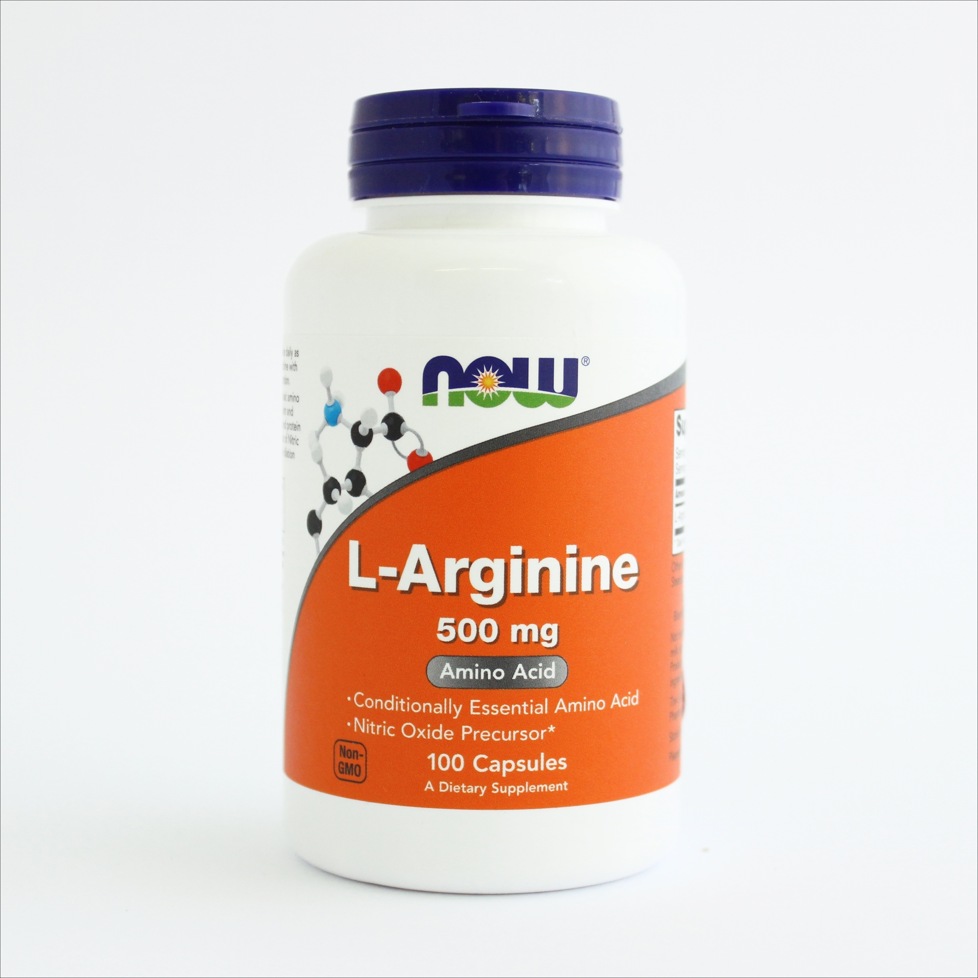 Now L-arginin 500 mg -100 kapsula 00194
