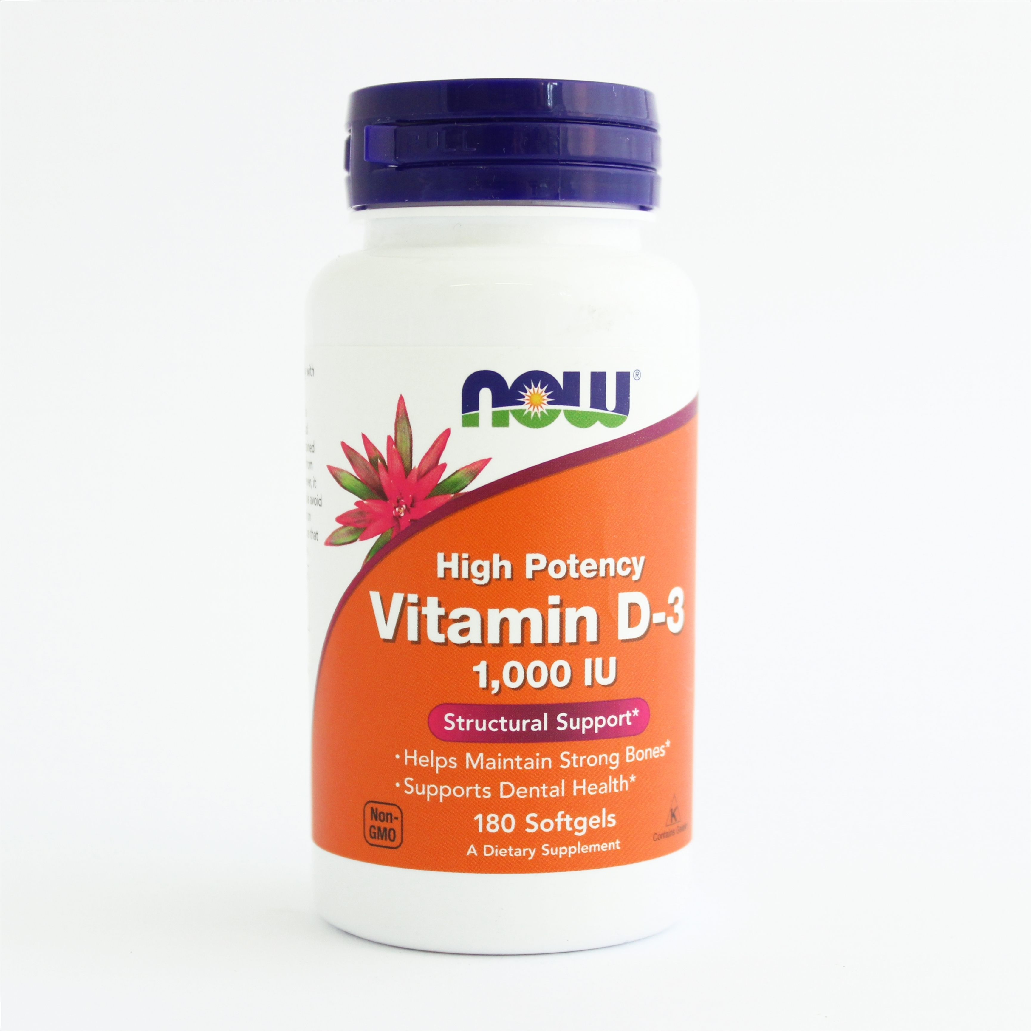 Now Vitamin D-3 1000 IU -za jake kosti(180 kapsula) 00210