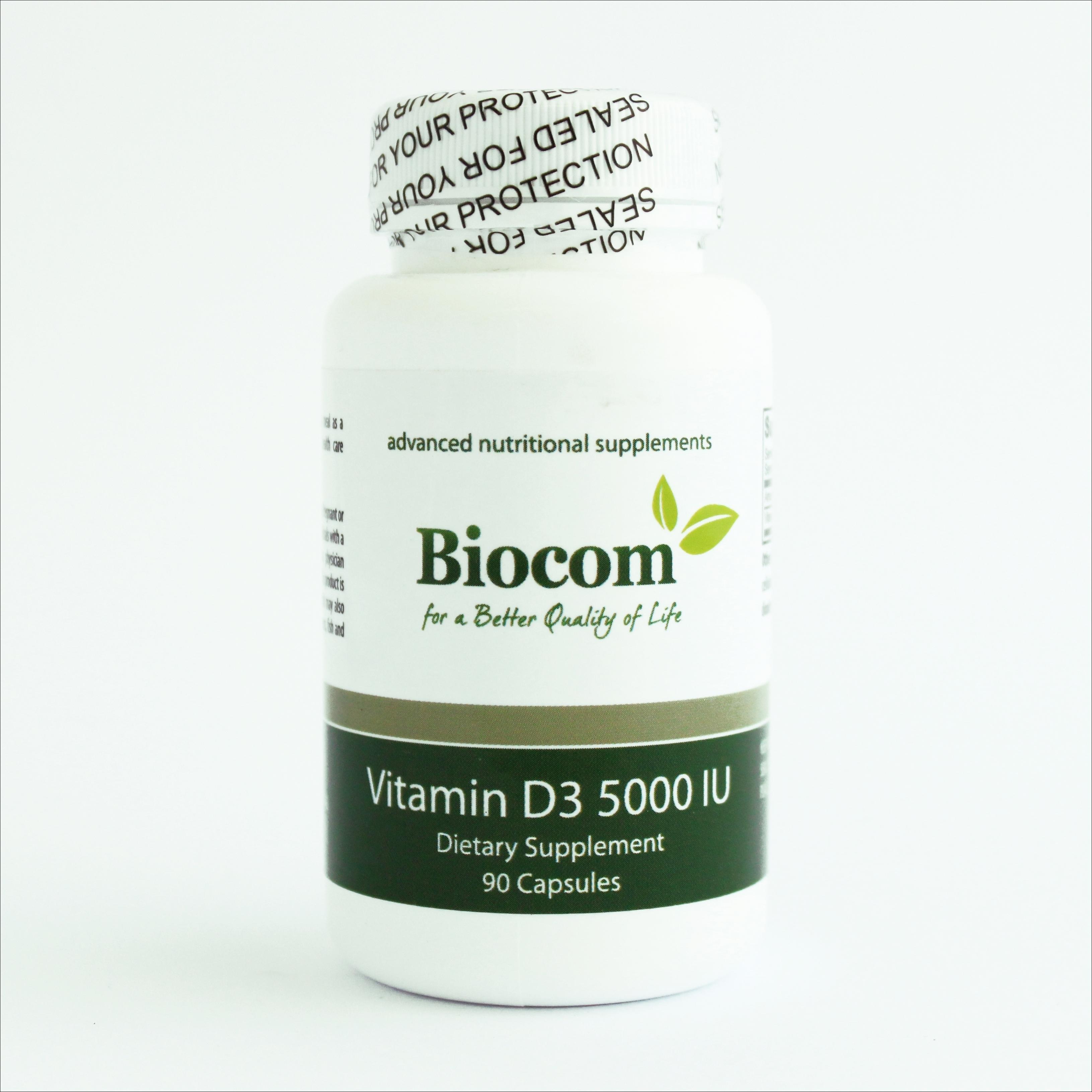 Biocom Vitamin D3 5000 IU 90 kapsula 00001