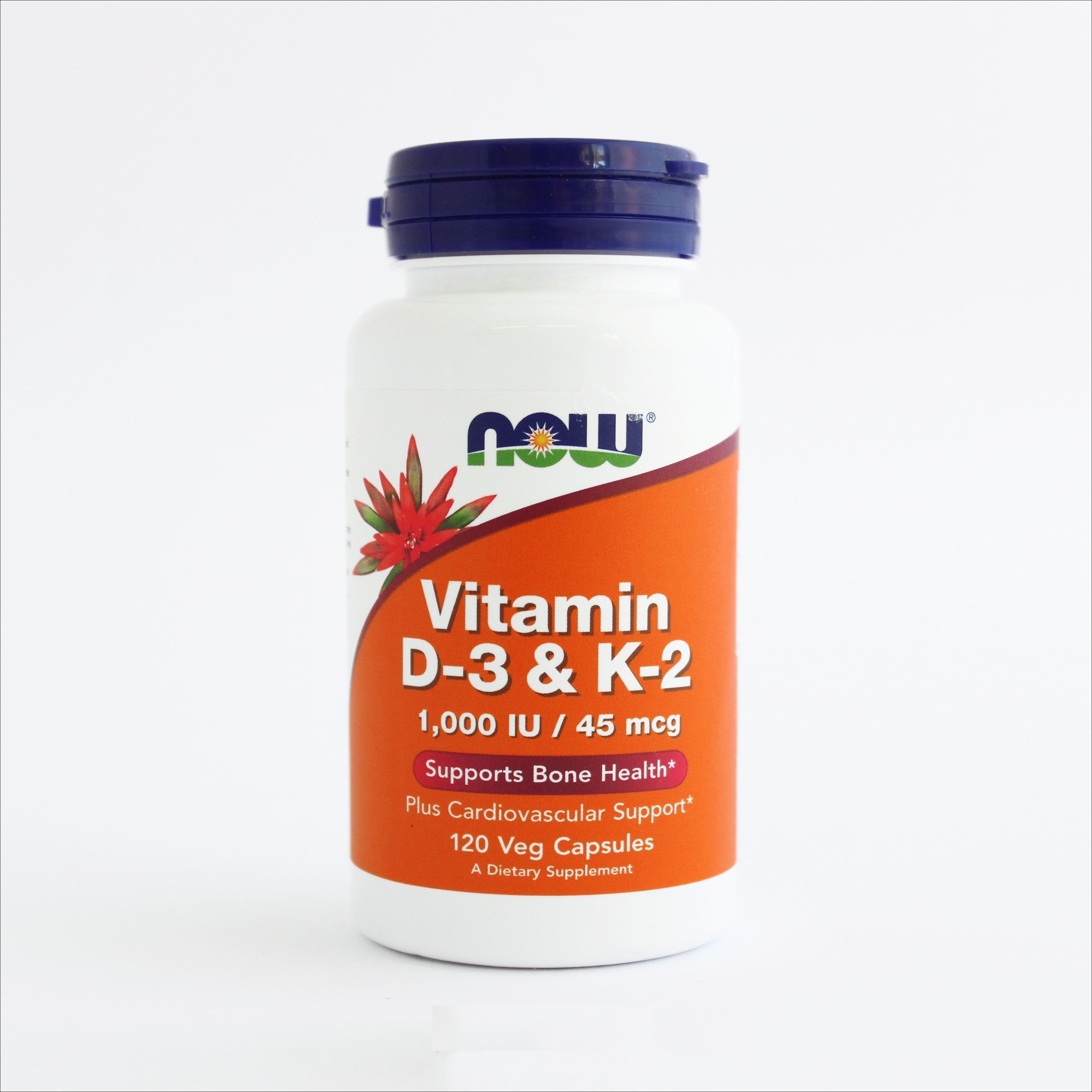 Now Vitamin D-3 & K-2 1000 IU- za jake kosti  (120 kapsula) 00209