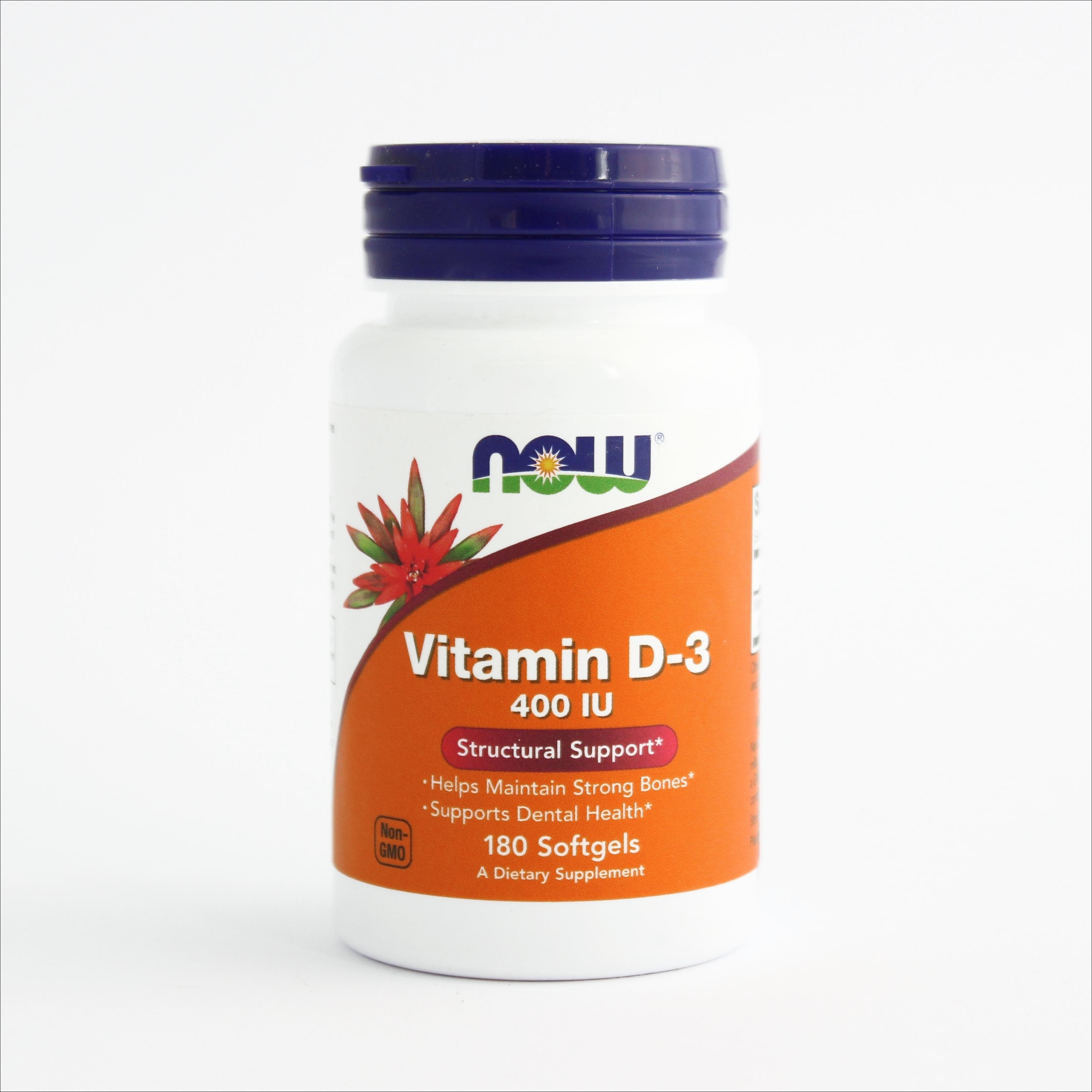 Now Vitamin D-3 400 IU - za jake kosti (180 kapsula) 00288