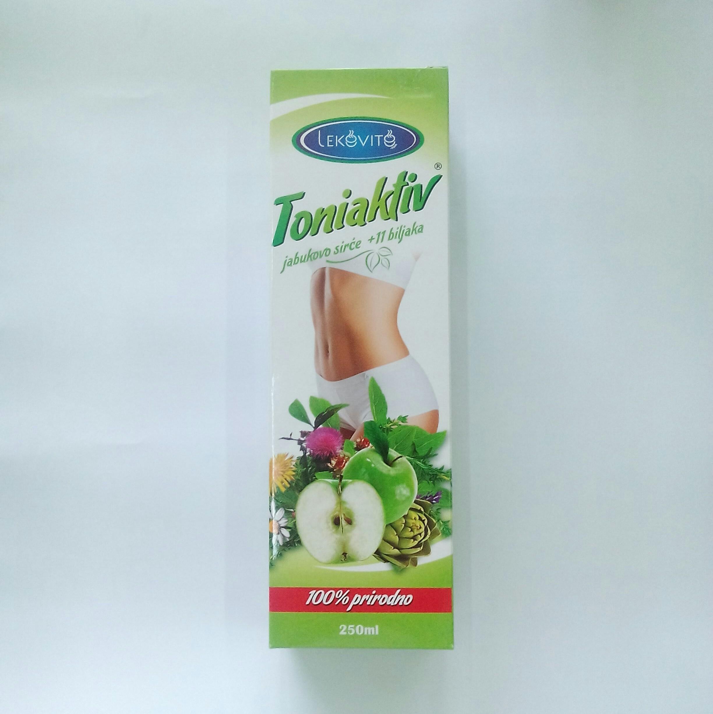 Toniaktiv (jabukovo sirće sa 11 biljaka) 250 ml Lekovito 00314