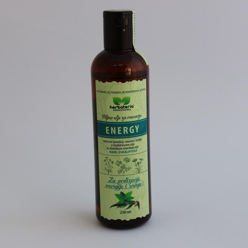Biljno ulje za masažu energy