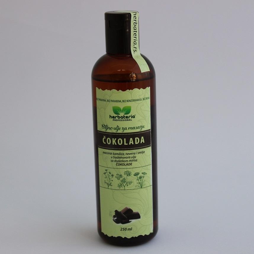 Biljno ulje za masažu čokolada