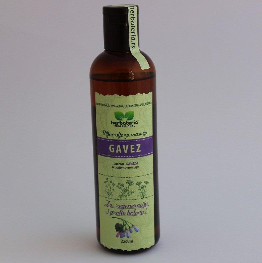 Herbateria - Gavez biljno ulje za masažu 250 ml 00334