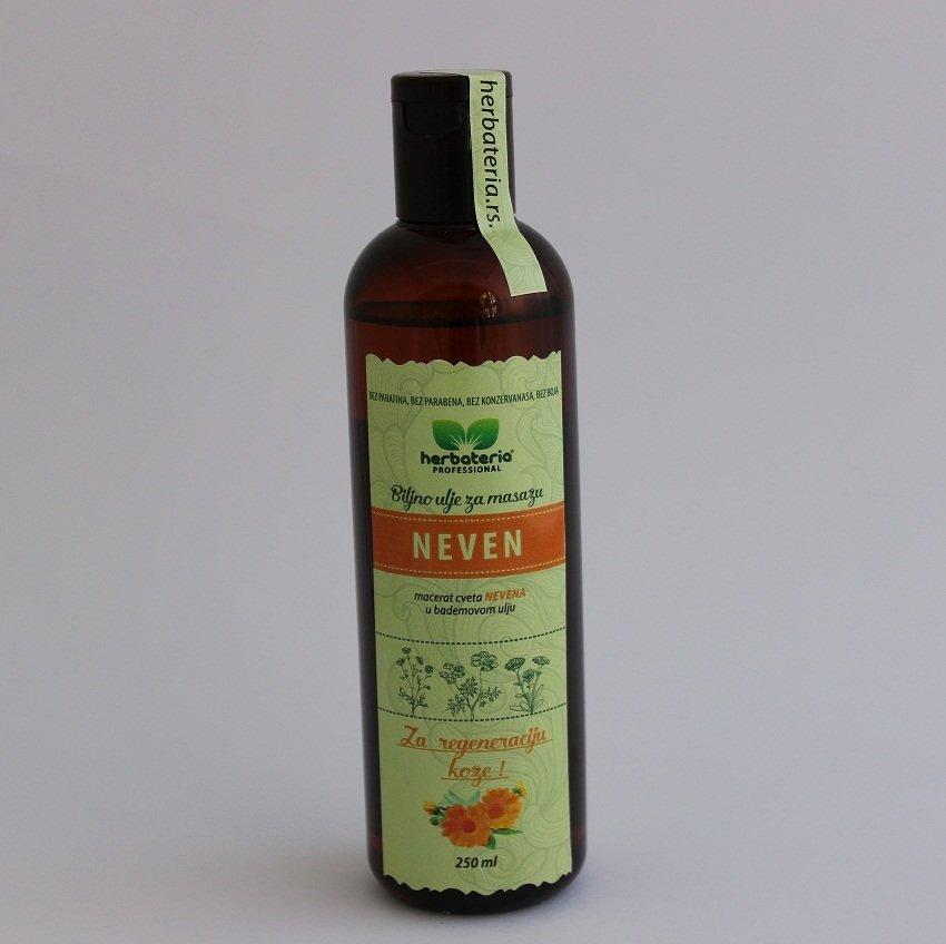 Herbateria - Neven biljno ulje za masažu 250 ml 00336