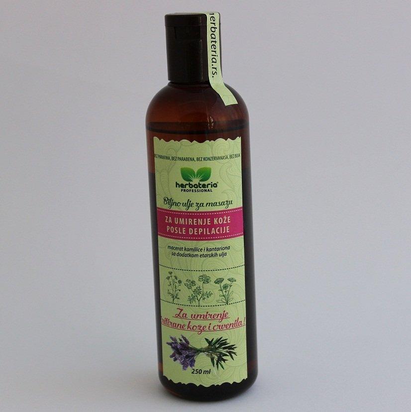 Herbateria - Biljno ulje za umirenje kože posle depilacije 250 ml 00344