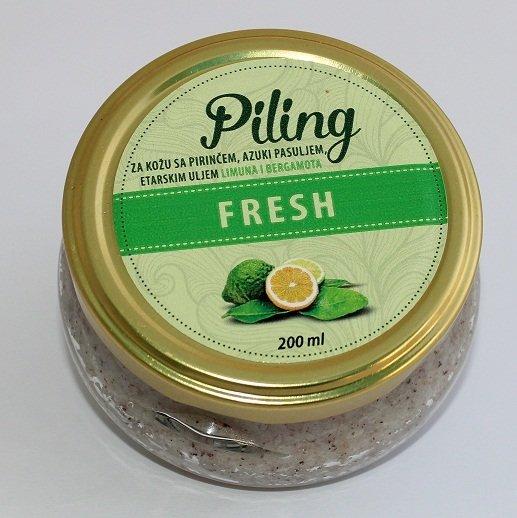 Herbateria - Piling za kožu fresh - sa pirinčem, azuki pasuljem i etarskim uljem limuna i bergamota 00340